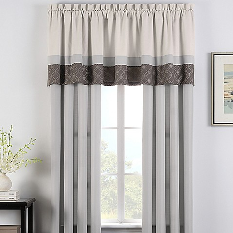 Cortez Window Curtain Panel Pair And Valance Bed Bath Beyond