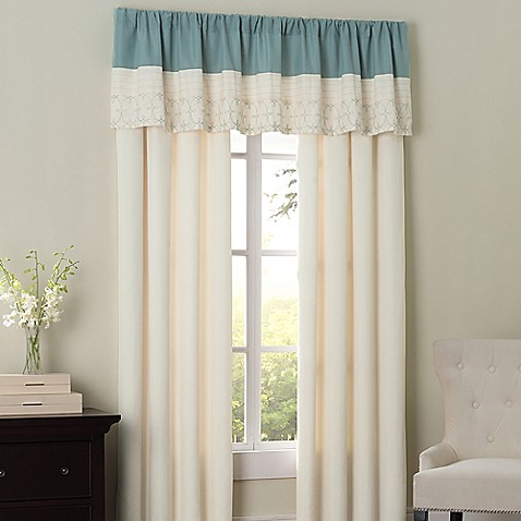 Hathaway Window Curtain Panel Pair And Valance Bed Bath Beyond