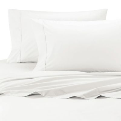Merveilleux Ultimate Percale Olympic Egyptian Cotton Queen Sheet Set In White