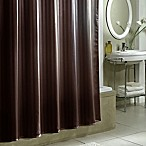 Damask Stripe Fabric Shower Curtain Liner in Espresso