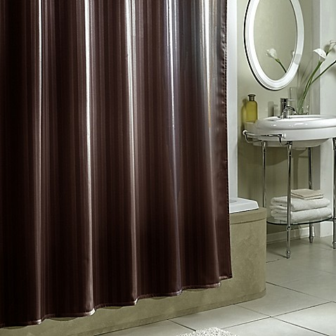 Shower curtain liner use the damask stripe fabric shower curtain liner