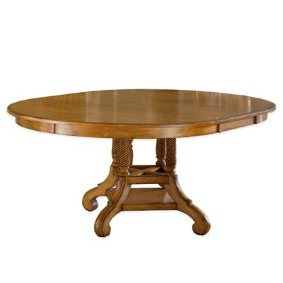 hillsdale wilshire round dining table in antique pine - Round Pine Kitchen Table
