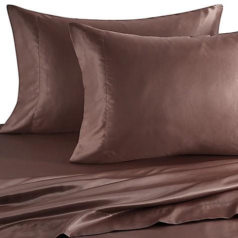 Satin Luxury King Pillowcases in Chocolate (Set of 2)
