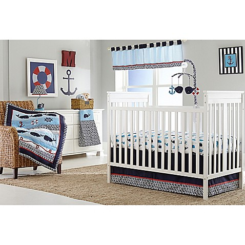 nautica kids® whale of a tale crib bedding collection - bed bath