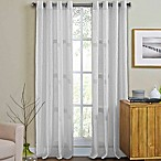 Weston 84-Inch Grommet Top Window Curtain Panel in White