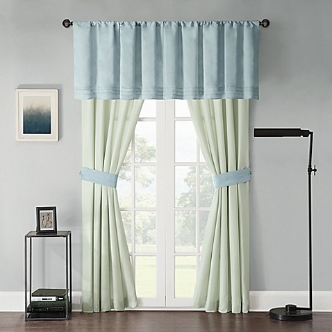 Beechwood Window Curtain Panel Pair And Valance Bed Bath Beyond