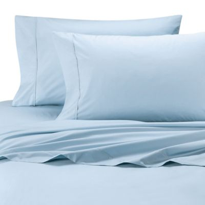 Ultimate Percale Egyptian Cotton Dual King Sheet Set In Light Blue