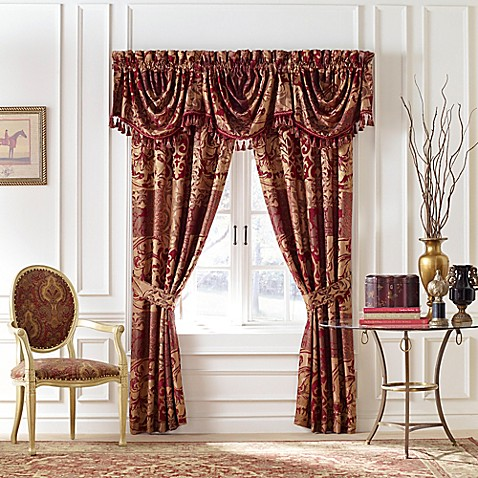 Croscill 174 Ryland Window Curtain Panel And Valance Bed