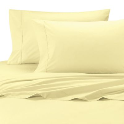 Ultimate Percale Egyptian Cotton Dual King Sheet Set In Yellow