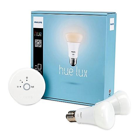 philips hue lux bulb starter kit bed bath beyond. Black Bedroom Furniture Sets. Home Design Ideas