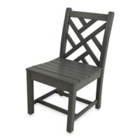 POLYWOOD® Chippendale Dining Side Chair in Slate Grey