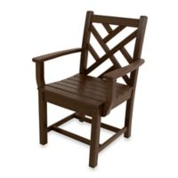 POLYWOOD® Chippendale Dining Arm Chair in Mahogany