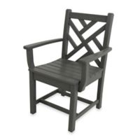 POLYWOOD® Chippendale Dining Arm Chair in Slate Grey