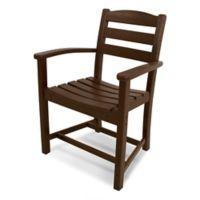 POLYWOOD® La Casa Dining Arm Chair in Mahogany