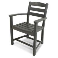 POLYWOOD® La Casa Dining Arm Chair in Grey