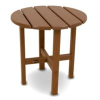 POLYWOOD® 18-Inch Round Side Table in Teak