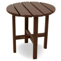 POLYWOOD® 18-Inch Round Side Table in Mahogany