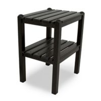 POLYWOOD® 2 Shelf Side Table in Black