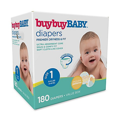 Buybuy Baby 180 Count Size 1 Box Diapers Buybuy Baby