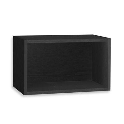 Way Basics Rectangular Wall Shelf In Black