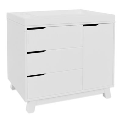 Dressers U003e Babyletto Hudson 3 Drawer Changer Dresser In White