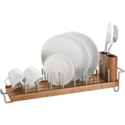 Bamboo Dish Rack and Drainer  sc 1 st  Bed Bath \u0026 Beyond & Buy Dish Drying Rack from Bed Bath \u0026 Beyond