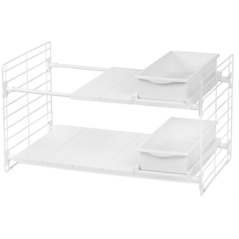 Iris 174 Double Tier Expandable Under Sink Organizer Bed