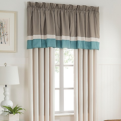 tresco window curtain panel and valance bed bath amp beyond 85727