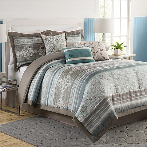 Tresco 7 piece comforter set bed bath beyond - Bed bath and beyond bedroom furniture ...