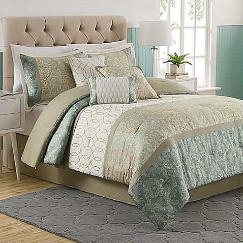 Dorado 7 piece comforter set bed bath beyond - Bed bath and beyond bedroom furniture ...