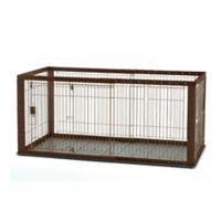 Richell Expandable Medium Pet Crate with Floor Tray