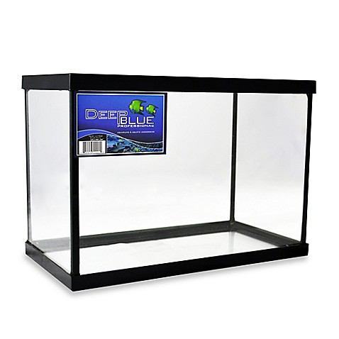 Buy deep blue professional 2 5 gallon fish tank with black for Deep blue fish tanks