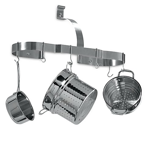 Cuisinart 174 Brushed Stainless Steel Oval Wall Pot Rack