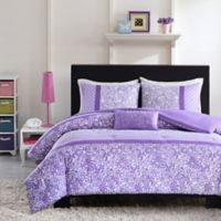 Mizone Riley Reversible Full/Queen Comforter Set in Purple