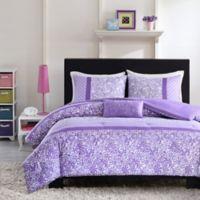 Mizone Riley Reversible Twin/Twin XL Comforter Set in Purple