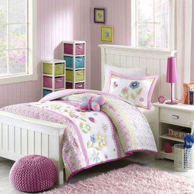 mizone kids spring bloom reversible twin comforter set