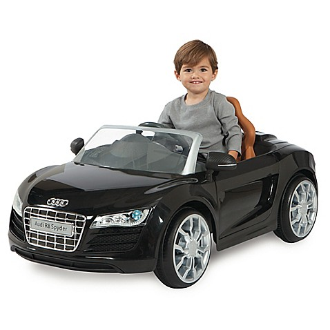 Audi R8 Spyder 6V Battery Ride-On Convertible Sports Car in Black
