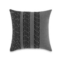 Kenneth Cole Reaction Home Oxford Chambray Embroidered Square Throw Pillow in Grey