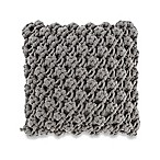 Kenneth Cole Reaction Home Oxford Popcorn Knit Square Throw Pillow in Grey