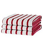 Basket Weave Kitchen Towel in Red (Set of 3)