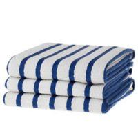 Basket Weave Kitchen Towel in Blue (Set of 3)