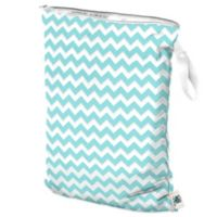 Planet Wise Large Wet Bag in Teal Chevron