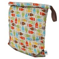 Planet Wise Large Roll-Down Wet Bag in Owl