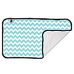 Planet Wise Designer Changing Pad in Teal Chevron
