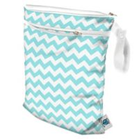 Planet Wise Wet/Dry Bag in Teal Chevron