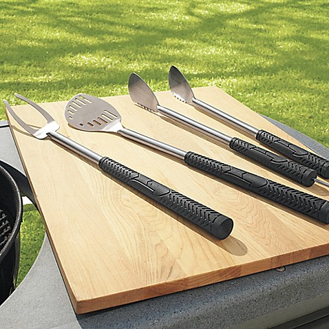3 piece stainless steel golf club style grilling tool set bed bath beyond. Black Bedroom Furniture Sets. Home Design Ideas