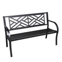 Maze Cast Iron Park Bench