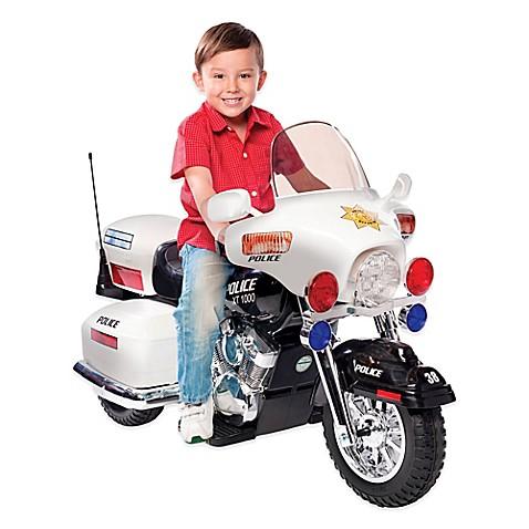 Kid Motorz Patrol H Police 12 Volt Motorcycle Ride On In