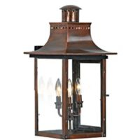 Quoizel Chalmers Outdoor Large Hanging Lantern in Aged Copper