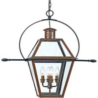 Quoizel Rue De Royal Outdoor Extra-Large Hanging Lantern in Aged Copper